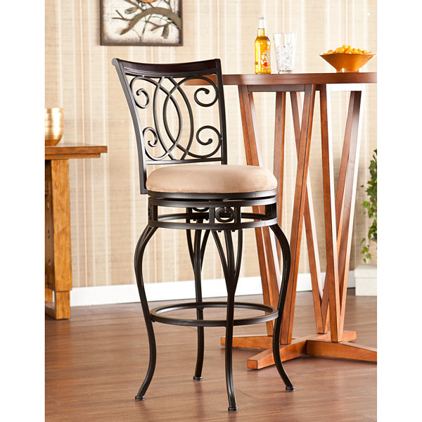 Wooden Door Kitchen Swivel Bar Stool