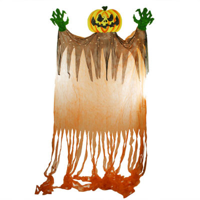11' Scary Jack-o'-Lantern with Monster Hands Hanging Halloween Decoration