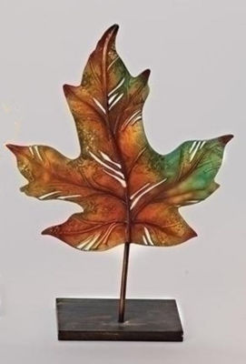 "14"" Multi-Colored Autumn Harvest Maple Leaf Decorative Votive Candle Holder"""