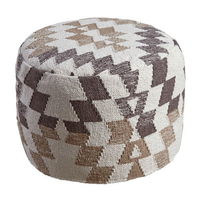 Signature Design by Ashley® Abraham Diamond Pouf Ottoman