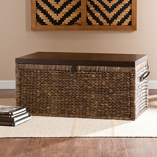 Southlake Furniture Water Hyacinth Storage Trunk