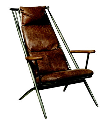 Brenna Metal Frame Accent Chair
