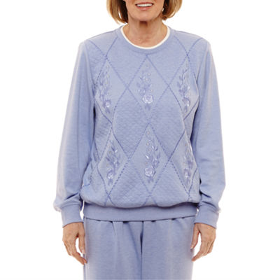 Alfred Dunner Pastel Skies Long Sleeve Sweatshirt
