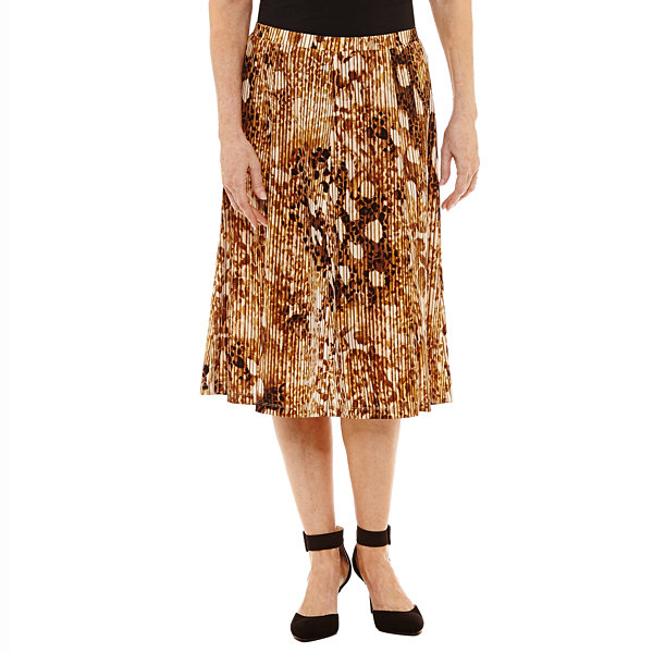 Alfred Dunner Jungle Love Animal Pleated Skirt
