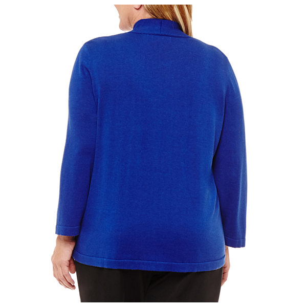 Alfred Dunner High Roller Geo Layered Sweater-Plus