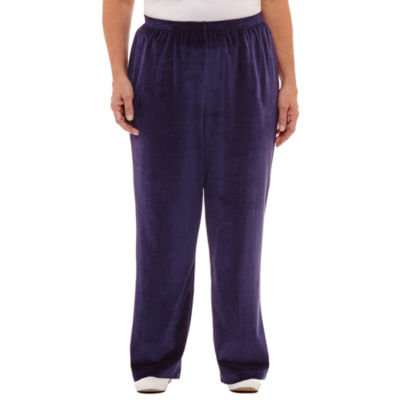 Alfred Dunner Royal Jewels Velour Pull-On Pants- Plus