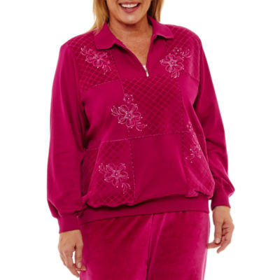 Alfred Dunner Royal Jewels Long Sleeve Pullover Sweater-Plus