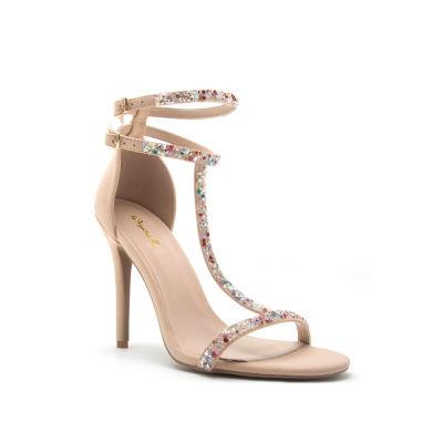 Qupid Womens Ara-396 Heeled Sandals