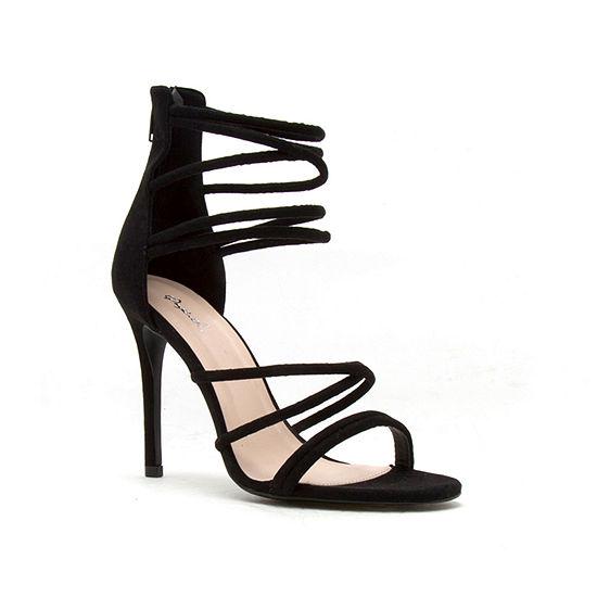 Qupid Womens Dezi-06 Heeled Sandals