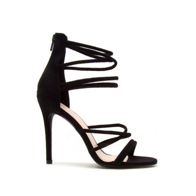 Qupid Womens Dezi-06 Heeled Sandals