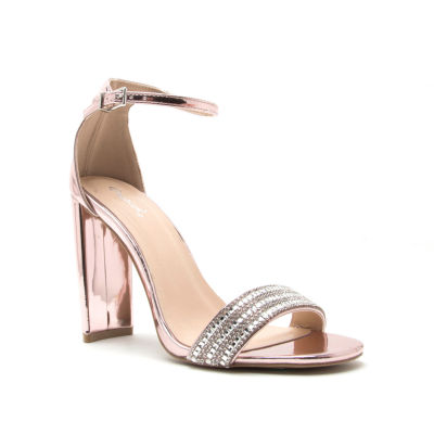 Qupid Womens Elsi-10 Heeled Sandals