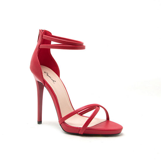 Qupid Womens Gladly-76 Heeled Sandals