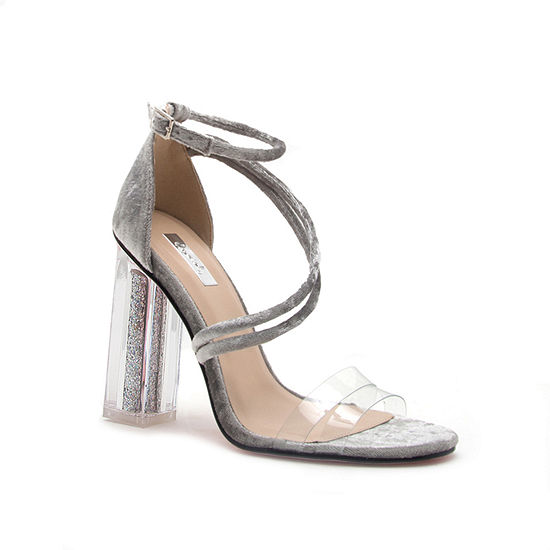 Qupid Womens Illusion-01ax Heeled Sandals