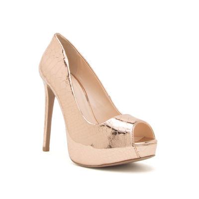 Qupid Womens Mask-04a Heeled Sandals
