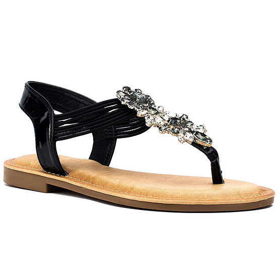 GC Shoes Womens Lydia Flat Sandals