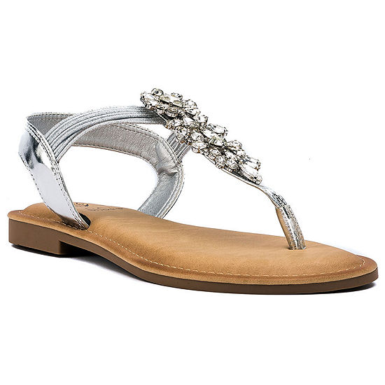 GC Shoes Womens Lydia Flat Sandals