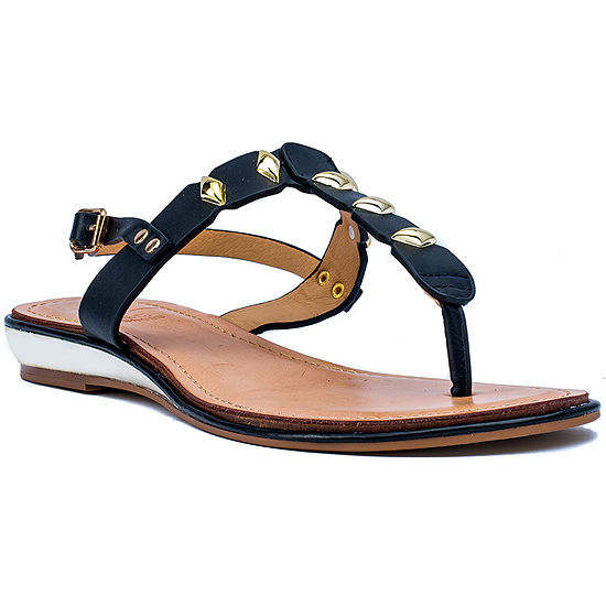 GC Shoes Womens Quinn Slingback Strap Flat Sandals