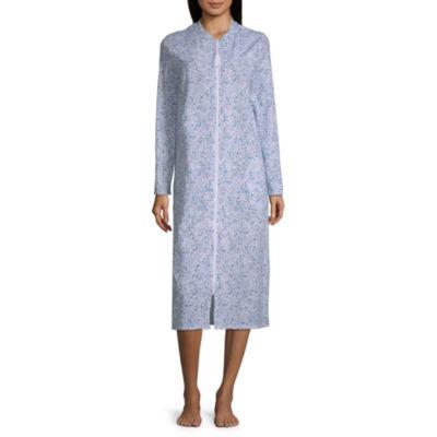 Adonna Womens Robe Long Sleeve Long Length