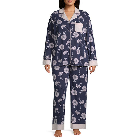 60953578e8 Liz Claiborne® Plus Size Notch Collar Pajama Set