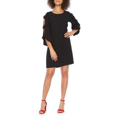 MSK 3/4 Bow Sleeve Shift Dress