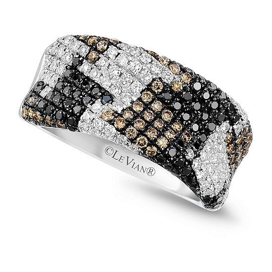 LIMITED QUANTITIES Le Vian Grand Sample Sale™ Ring featuring Black Diamonds, Vanilla Diamonds®, Chocolate Diamonds® set in 14K Vanilla Gold®