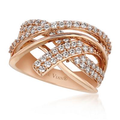 Grand Sample Sale™ by Le Vian® Gladiator Weave™ 1 CT. T.W. Vanilla Diamonds® Ring in 14K Strawberry Gold®