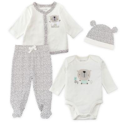 Mac And Moon 4-Pc Layette Set Pant Set Baby Unisex