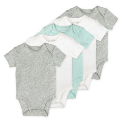 Mac And Moon 5-Pk. Short Sleeve Bodysuits