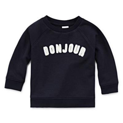 Peyton & Parker Happy Stripe Unisex Round Neck Long Sleeve Sweatshirt - Baby
