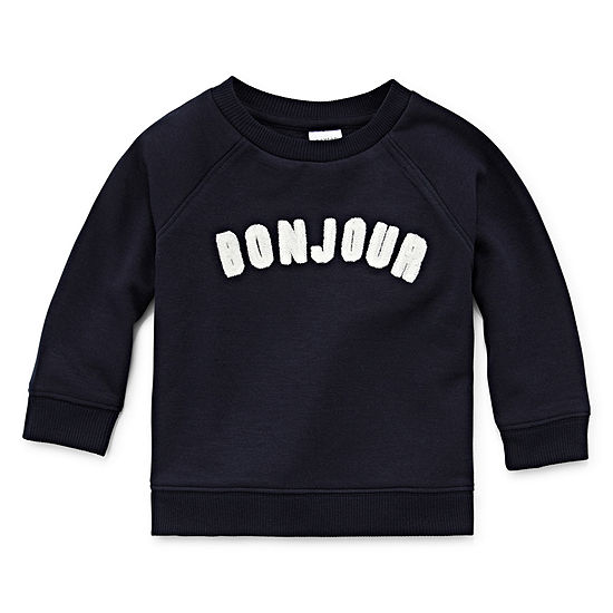 Peyton Parker Happy Stripe Unisex Round Neck Long Sleeve Sweatshirt Baby