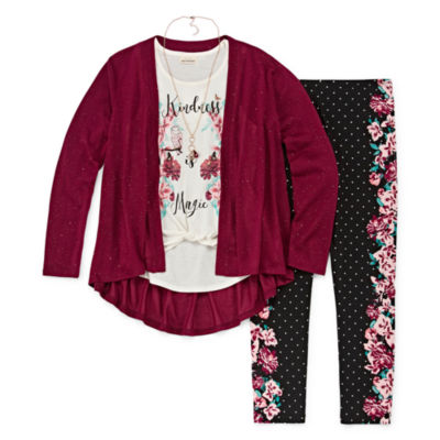 Self Esteem Sparkle Cozy Legging Set - Girls' 4-16 & Plus