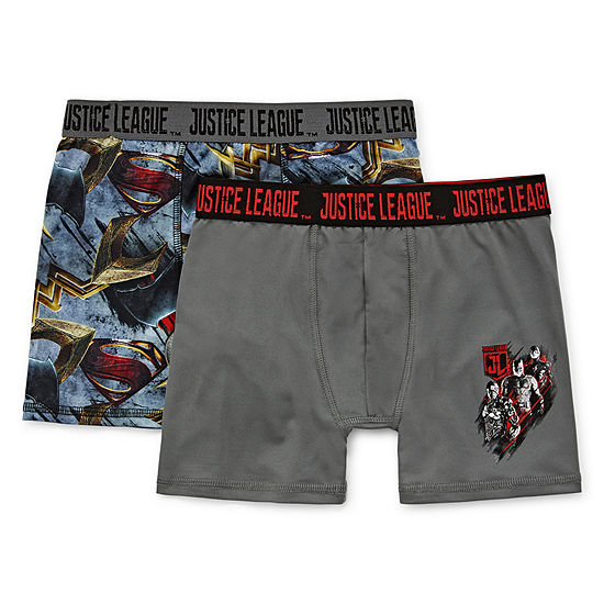 Big Boys 2 Pack Justice League Boxer Briefs