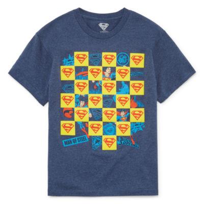 Boys Crew Neck Short Sleeve DC Comics T-Shirt Preschool / Big Kid