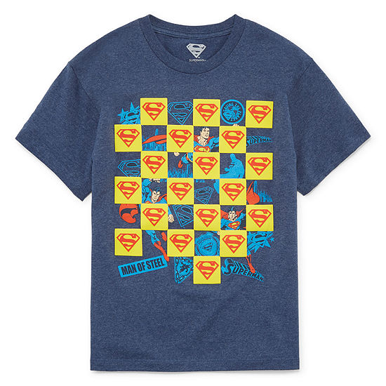 Boys Crew Neck Short Sleeve DC Comics Graphic T-Shirt - Preschool / Big Kid