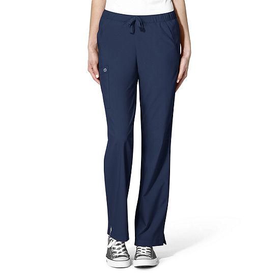 W123 byWonder Wink 5255 Women's Drawstring CargoScrub Pants-Petite