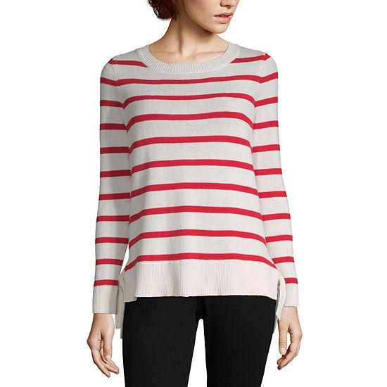 Liz Claiborne Striped Tie Sweater