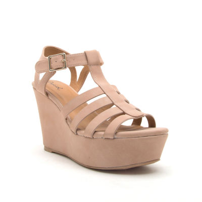 Qupid Womens Ardor-170 Wedge Sandals