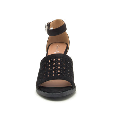 Qupid Womens Brammer-22 Heeled Sandals