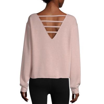 Flirtitude Womens Round Neck Long Sleeve Sweatshirt Juniors