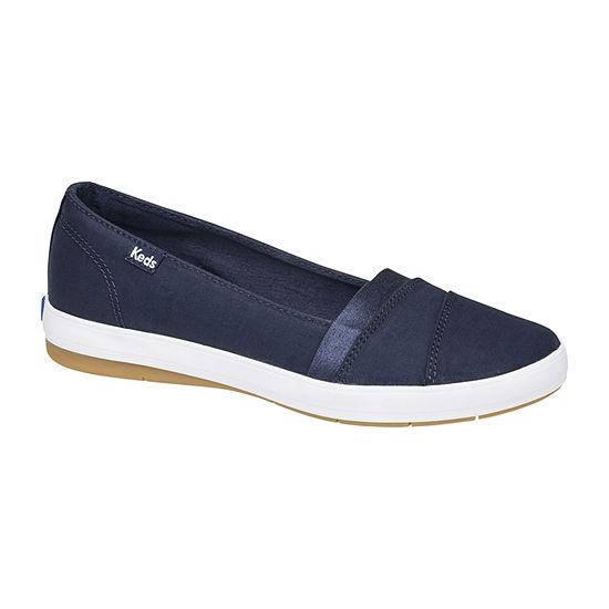 Keds Womens Carmel Twill Slip-On Shoe Round Toe