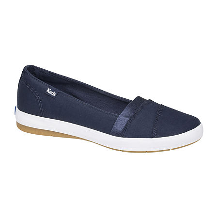 Keds Womens Carmel Twill Slip-On Shoe, 9 1/2 Medium, Blue