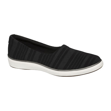 Grasshoppers Womens Lacuna Woven Slip-On Shoes, 10 Medium, Black
