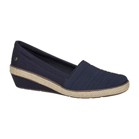 Grasshoppers Womens Quinn Slip-On Shoes, 9 1/2 Medium, Blue