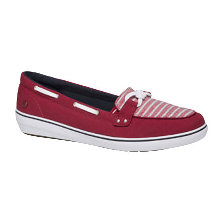Grasshoppers Womens Windsor Slip-On Shoes, 5 1/2 Wide, Red