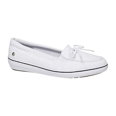 Grasshoppers Womens Windsor Slip-On Shoes, 5 1/2 Medium, White
