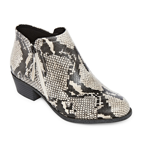 Arizona Womens Galen Block Heel Zip Booties