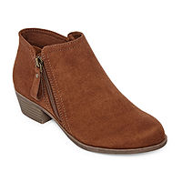 Deals on Arizona Womens Galen Block Heel Zip Booties