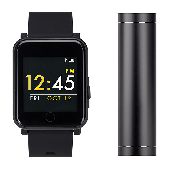 LIMITED TIME SPECIAL! Q7 Sport With Power Bank Mens Multi-Function Black Smart Watch-Q7s9072b13i-G02