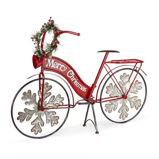 Mistletoe Farms Lighted Metal Holiday Bicycle Tabletop Decor