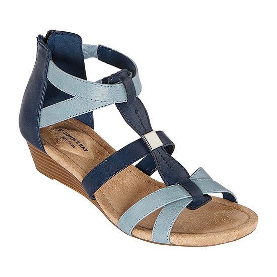 St. John's Bay Womens Nabran Wedge Sandals